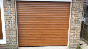 Golden Oak Roller Door