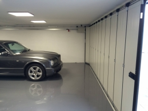 Side Sectional Garage Doors Inside view