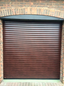 Hormann rose wood roller garage doors