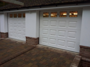 Wessex GRP sectional Garage Doors with Glazing