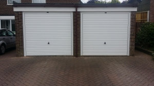 Canopy up and over garage doors in Dorset