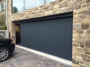 Side Sectional Garage Doors in Titan Metallic