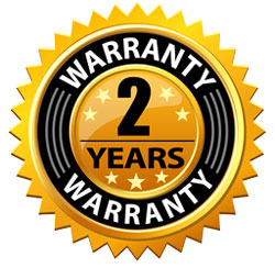 Two years warranty on all new installation and optional service