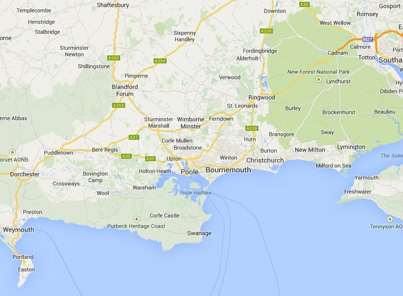 Poole, Bournemouth, Wimborne, Ferndown, Blandford, Ringwood, Weymouth, Christchurch, Dorchester, Swanage and more.